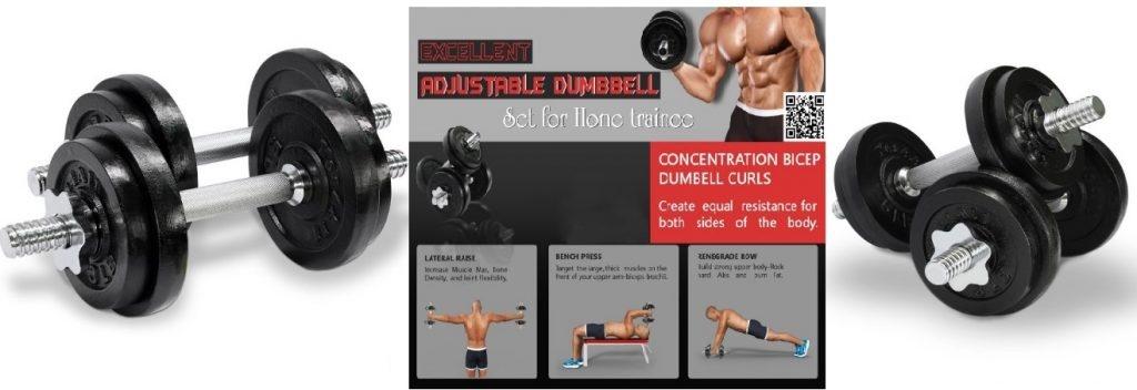 Best Adjustable Dumbbells : Yes4All Adjustable Dumbbells Reviews